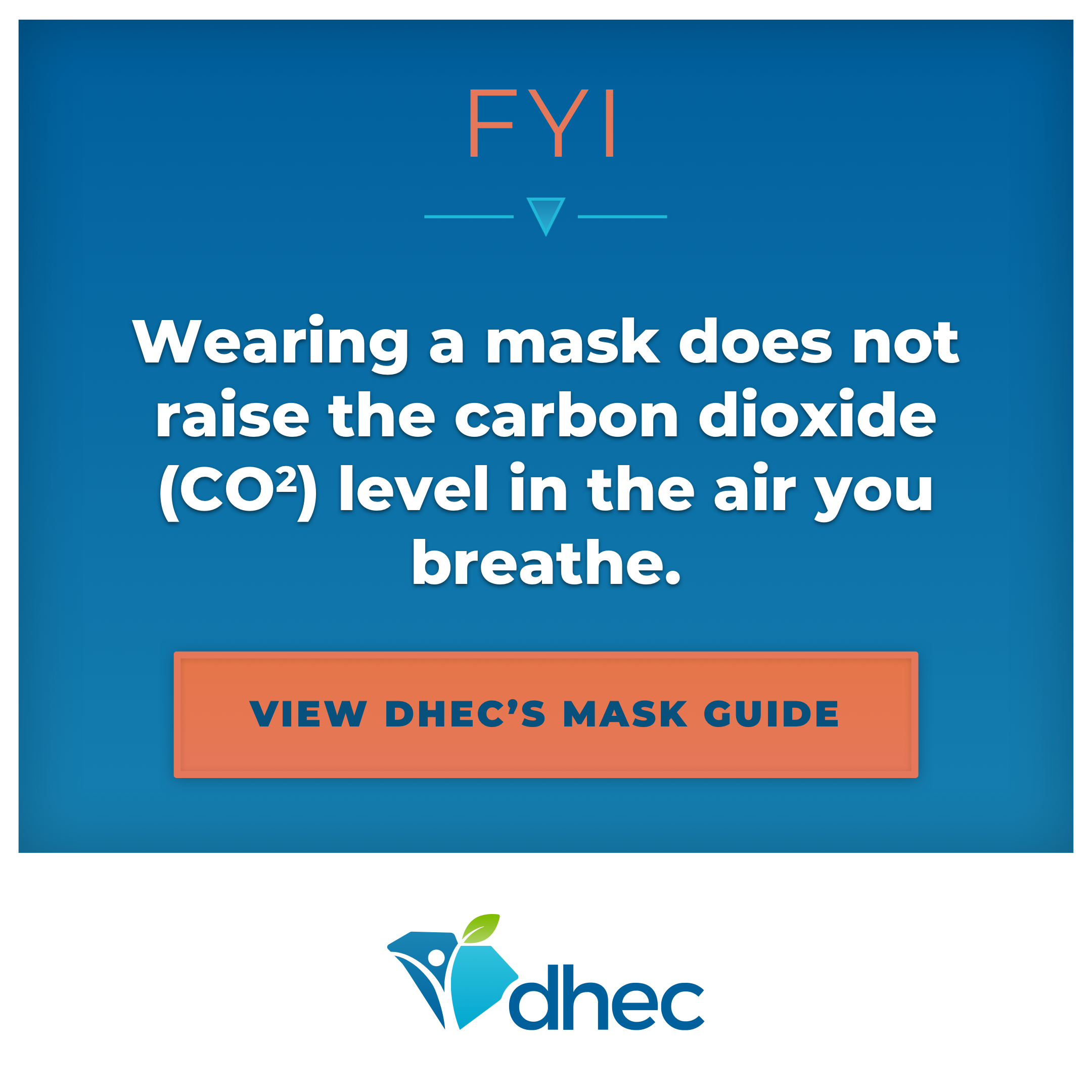 Wearing a mask does not increase the level of CO2 you breathe.